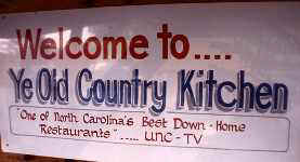 Ye Old Country Kitchen Sign